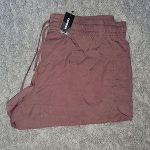 Express mauve utility shorts
